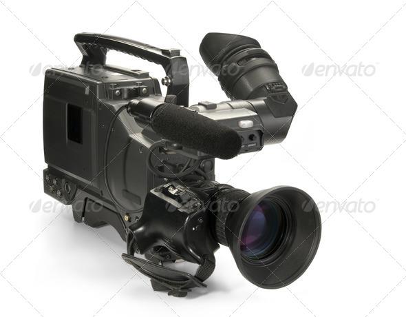 PhotoDune Professional digital video camera isolated on white background 556414