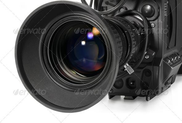PhotoDune Professional digital video camera isolated on white background 556436