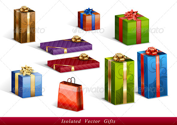 GraphicRiver Gifts Isolated 5412868