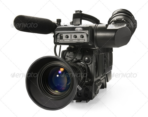 PhotoDune Professional digital video camera isolated on white background 556433
