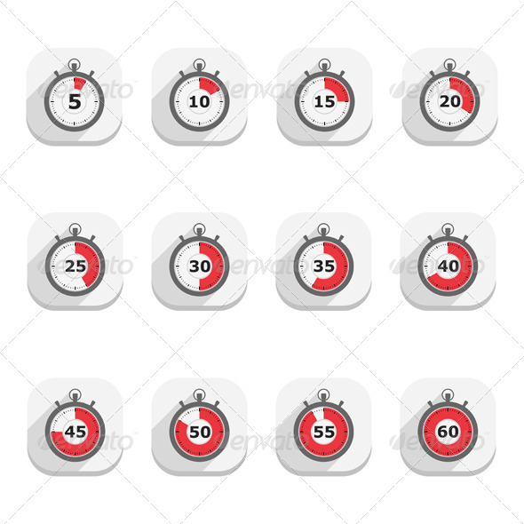 GraphicRiver Stopwatch Icons 5412925