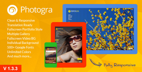 Photogra - Fullscreen Responsive WP Theme
