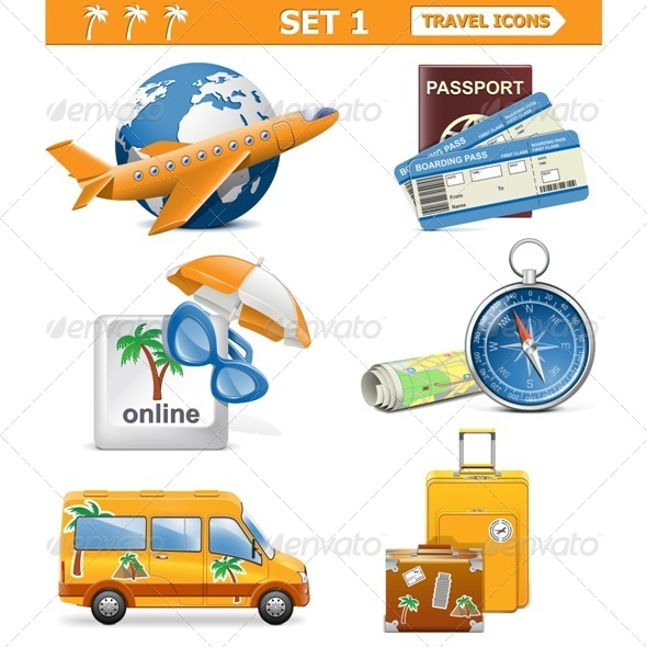 GraphicRiver Vector Travel Icons Set 1 5413895