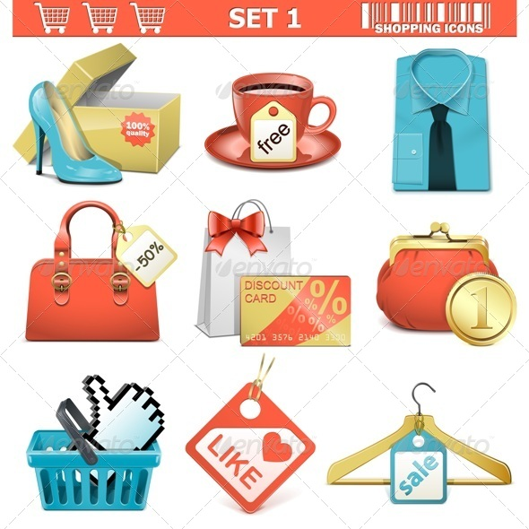 GraphicRiver Vector Shopping Icons Set 1 5413915