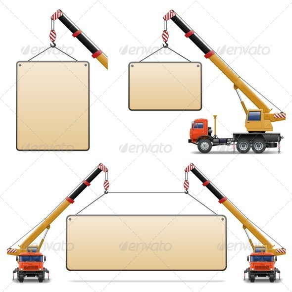 GraphicRiver Vector Construction Machines Set 6 5413930