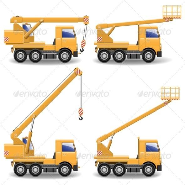 GraphicRiver Vector Construction Machines Set 1 5413940