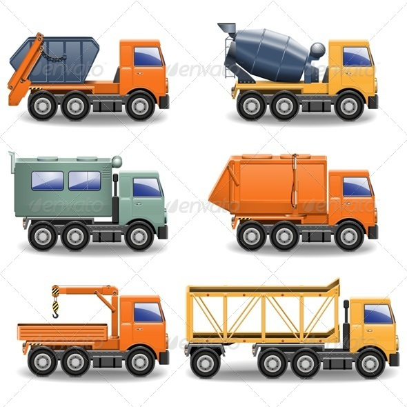 GraphicRiver Vector Construction Machines Set 2 5413946