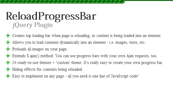 CodeCanyon ReloadProgressBar jQuery Plugin 5392218