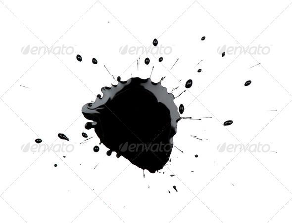 PhotoDune Black Ink Blot 558616