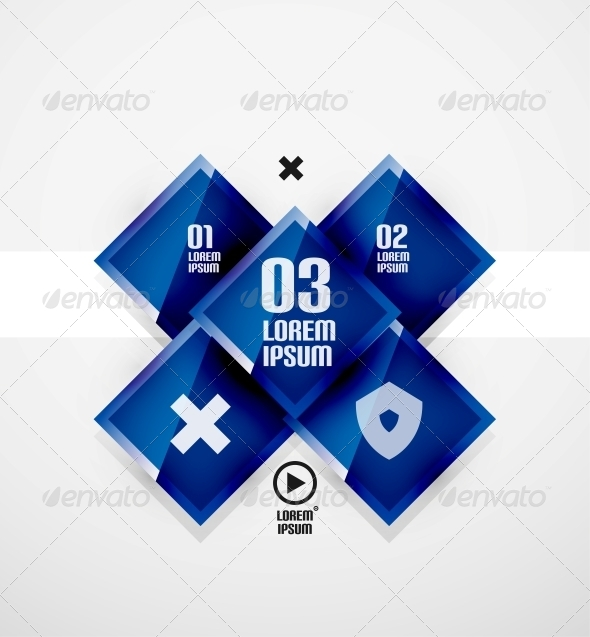 GraphicRiver Modern Glossy Square Infographics 5414165