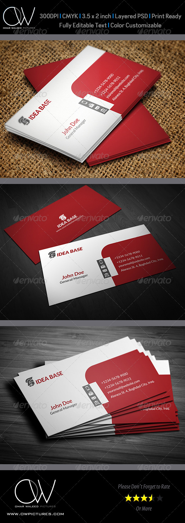 Corporate Business Card Template Vol.32 - Corporate Business Cards