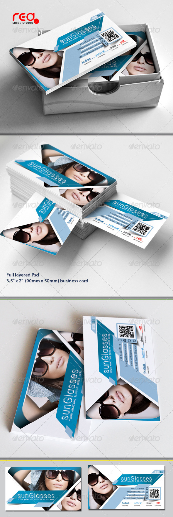 GraphicRiver SunGlasses Fashion Store Business Card Set 5414302