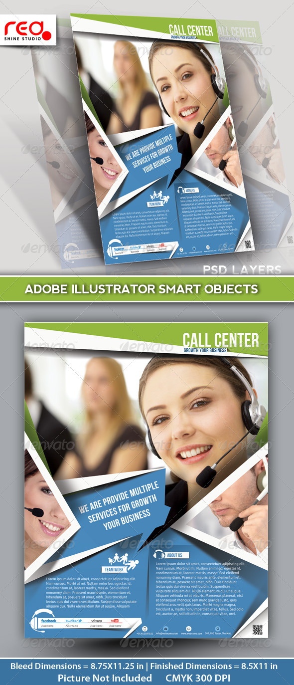 GraphicRiver Customer Support Flyer & Poster Template 5414391