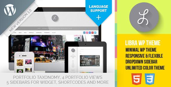 Libra 3.0 - Minimal Responsive WP Theme - Personal Blog / Magazine