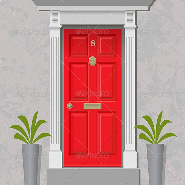 GraphicRiver Red Door 5414528