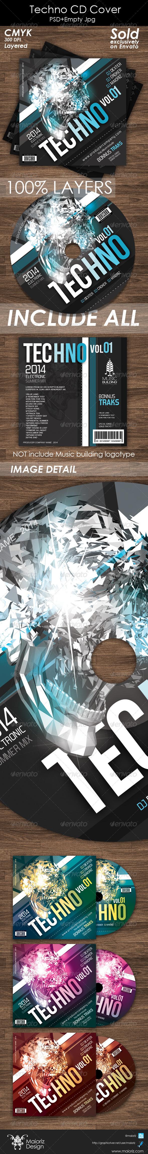 GraphicRiver Techno Cd Cover Artwork 5414622
