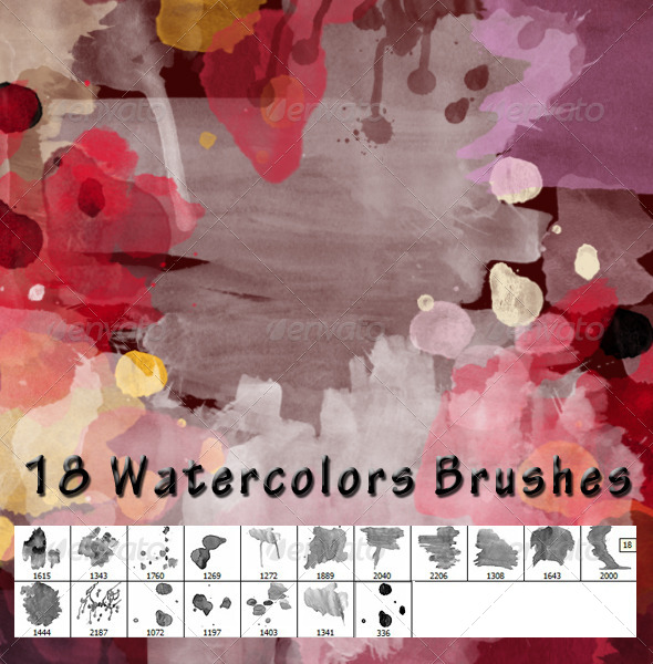 GraphicRiver Watercolors Brushes 5414725