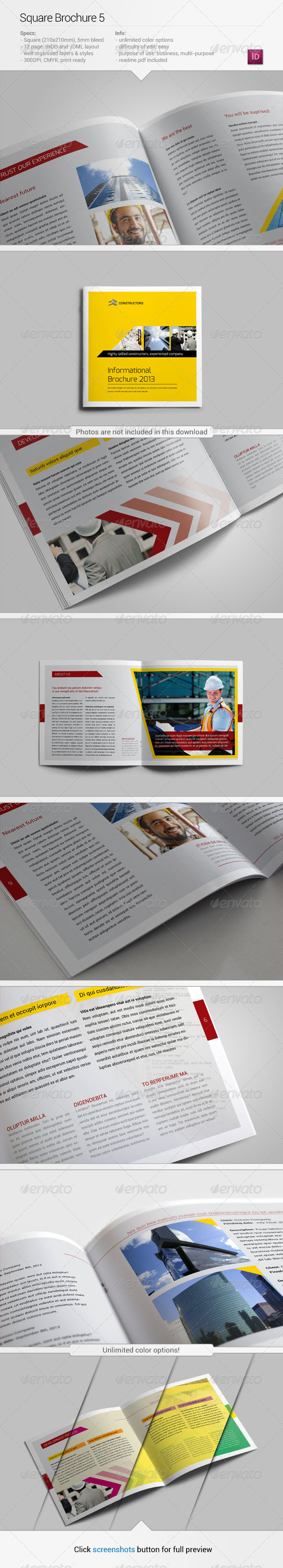 GraphicRiver Square Brochure 5 5414773