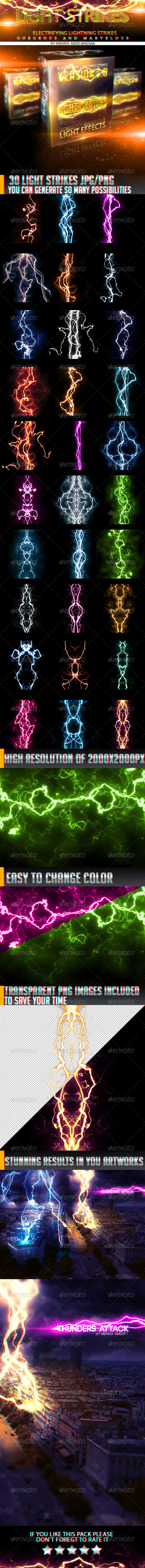 GraphicRiver 30 Stunnig Light Strikes 5361048