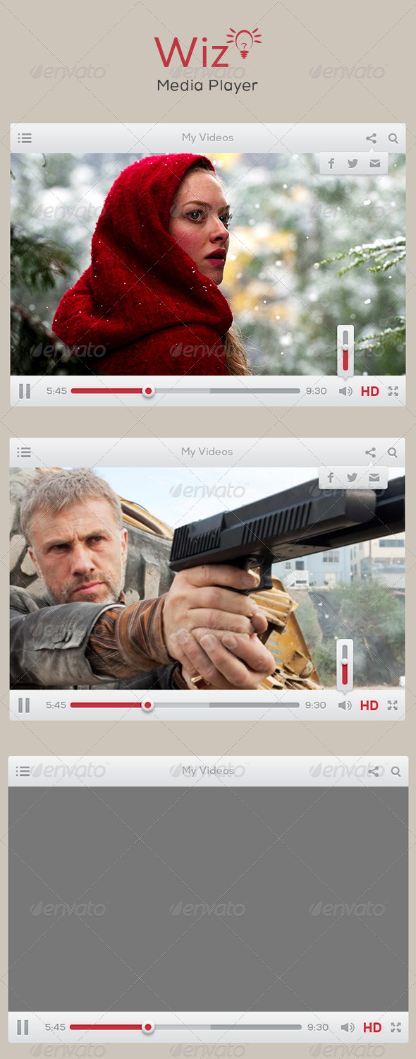 Wiz Media Player UI - Web Elements