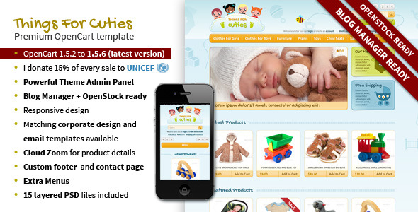 ThingsforCuties Responsive OpenCart Baby Template