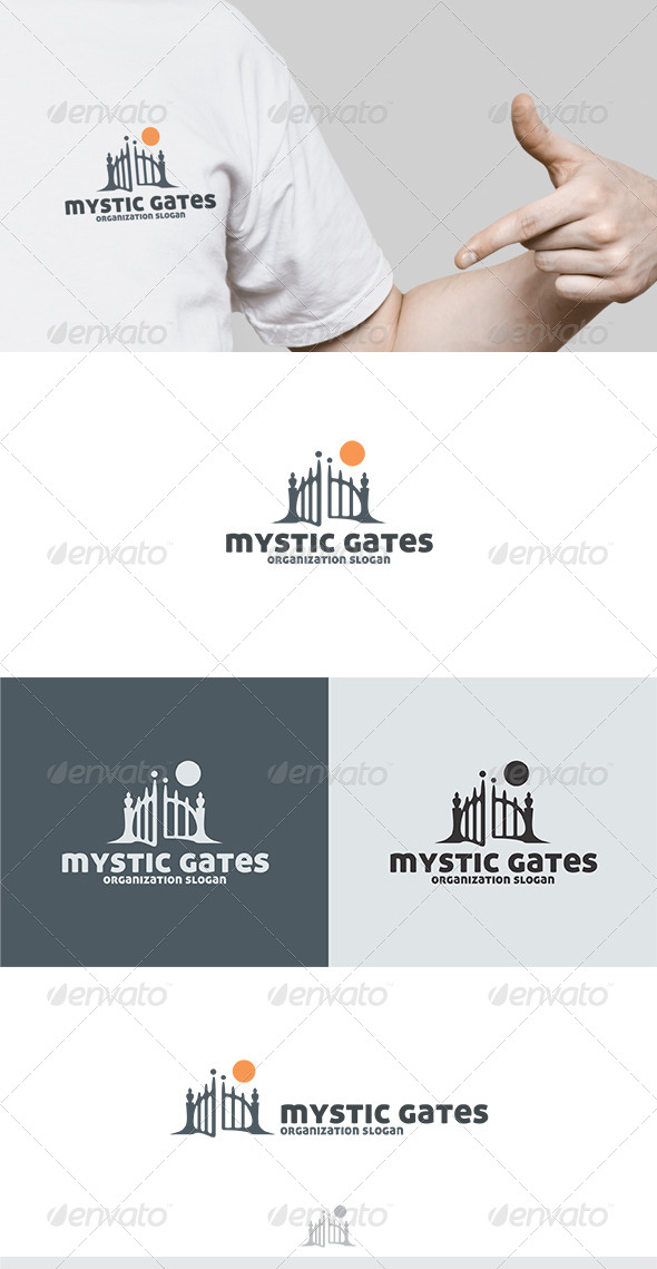GraphicRiver Mystic Gates Logo 5414928