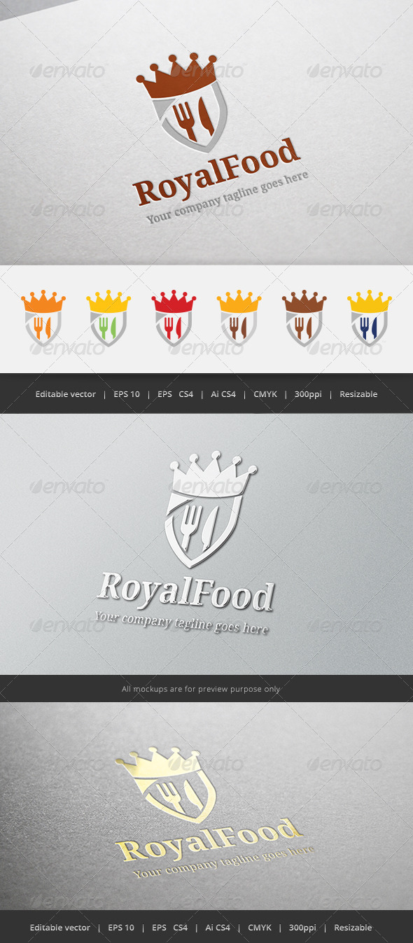 GraphicRiver Royal Food Logo 5414958