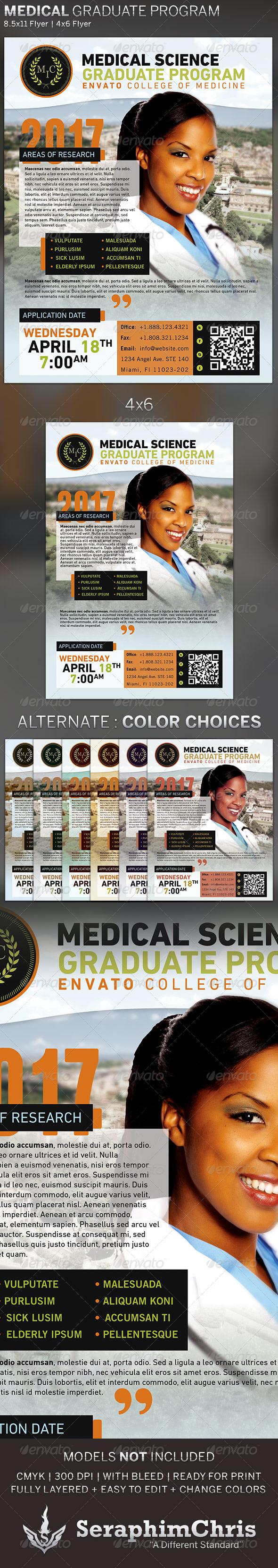 GraphicRiver Medical Graduate Program Flyer Template 5414988