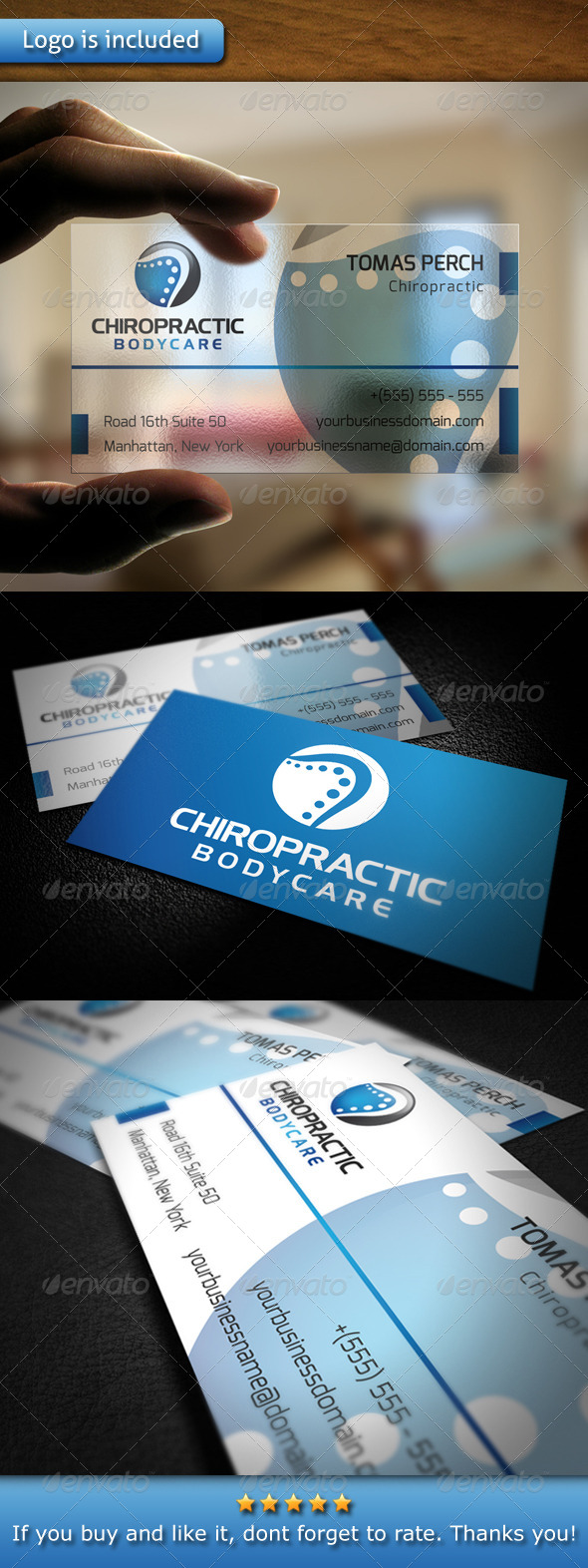 GraphicRiver Chiropractic Logo Business Card 5415124
