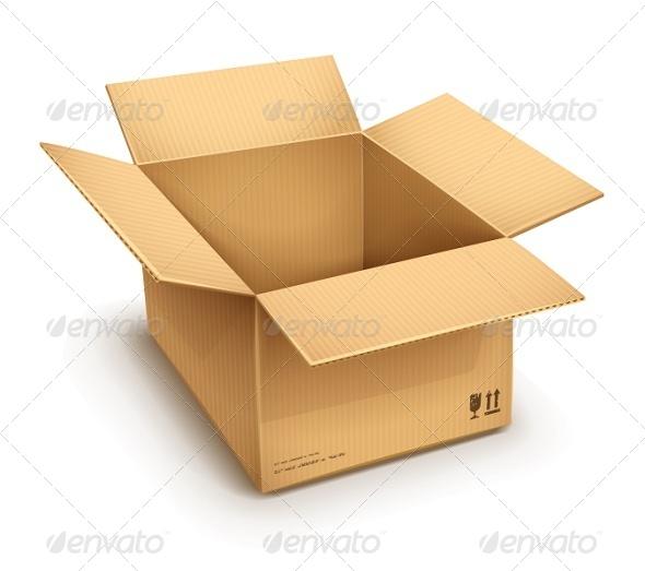GraphicRiver Open Cardboard Box 5415413