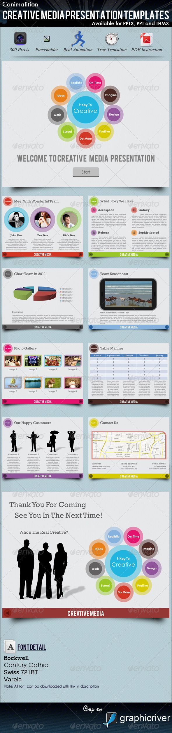 GraphicRiver Creative Media Presentation Templates 556668