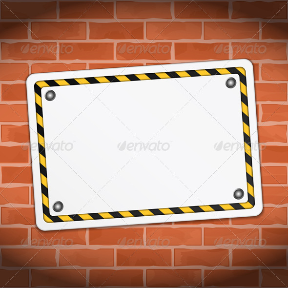 GraphicRiver Banner on Brick Wall 5415569