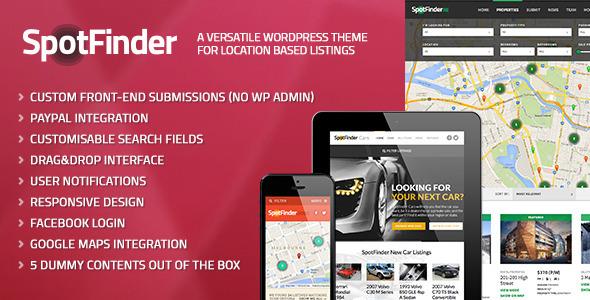 ThemeForest SpotFinder A Versatile Wordpress Listings Theme 5415589