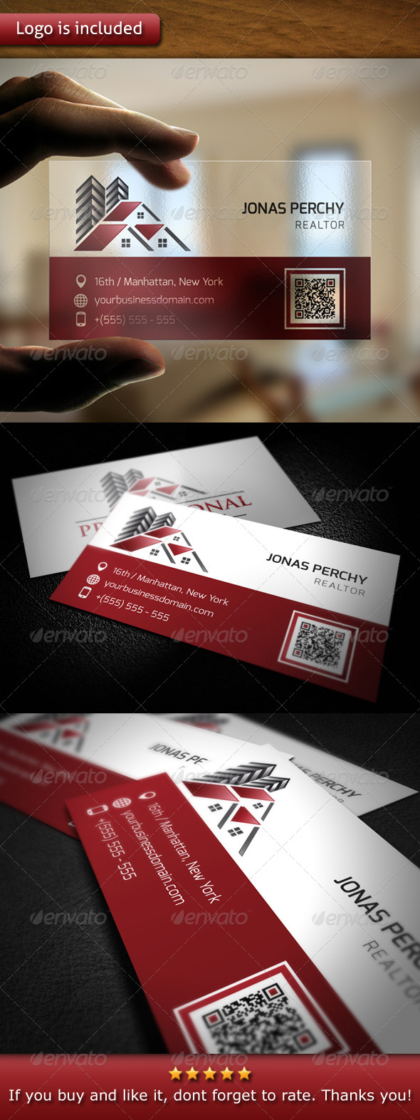 GraphicRiver Professional Real Estate Logo Business Card 5415679