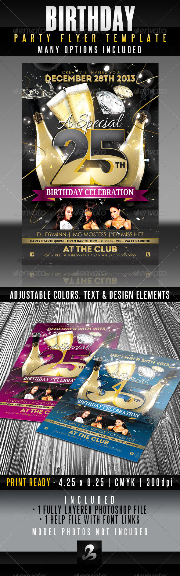 GraphicRiver Birthday Flyer Template 5415691