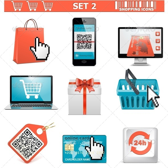 GraphicRiver Vector Shopping Icons Set 5415696