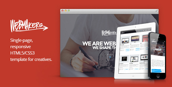 Webmakers - Single Page HTML/CSS Template - Portfolio Creative