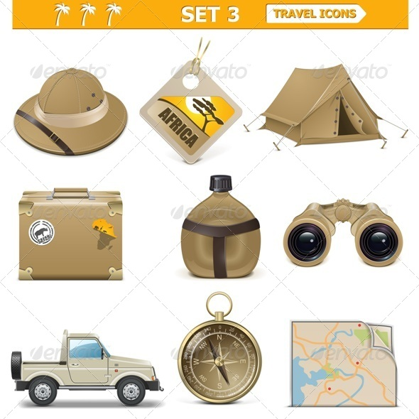 GraphicRiver Vector Travel Icons Set 5415754