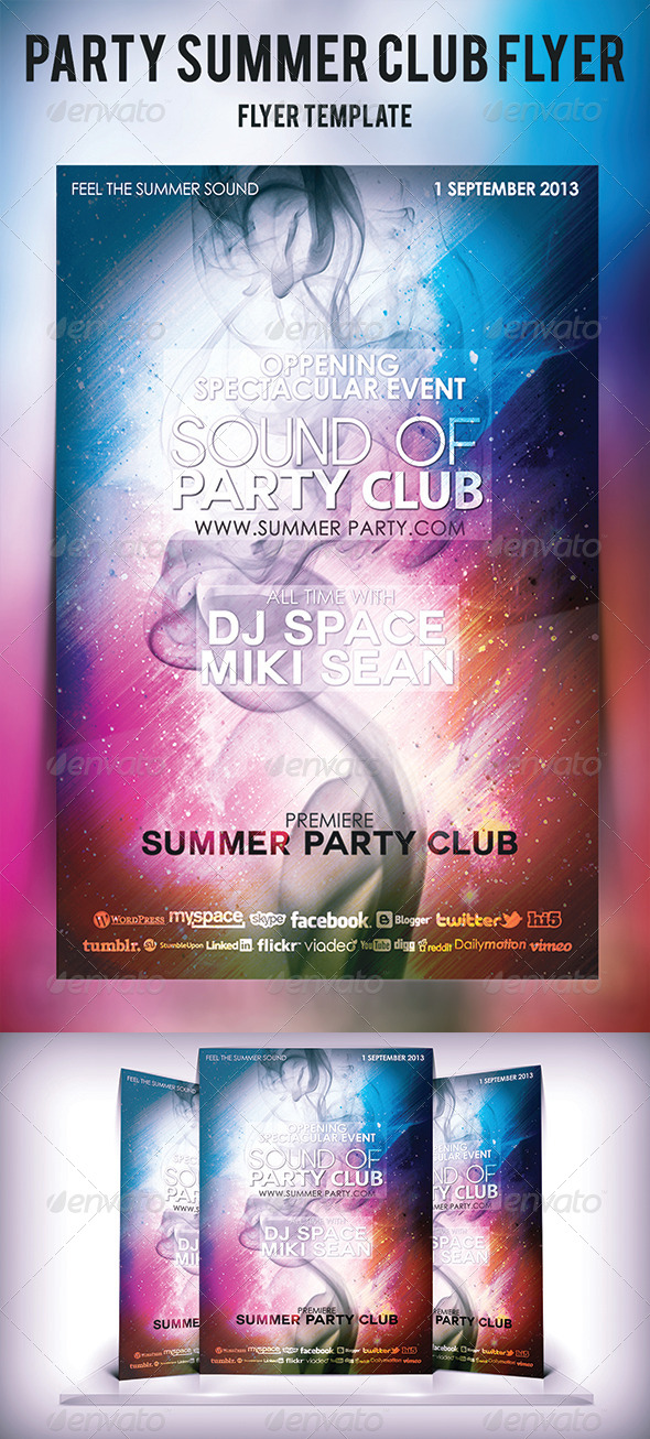 GraphicRiver Party Summer Club Flyer 5390066