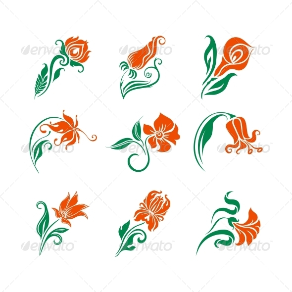 GraphicRiver Set of Decorative Elements for Design 5415788