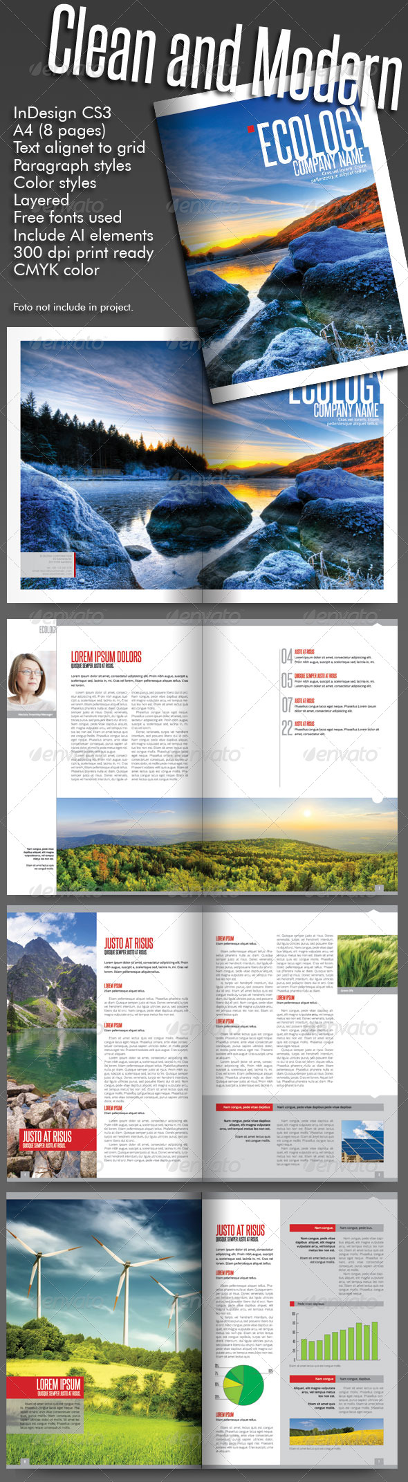 GraphicRiver Clean and Modern Catalog 8 pages 5358982