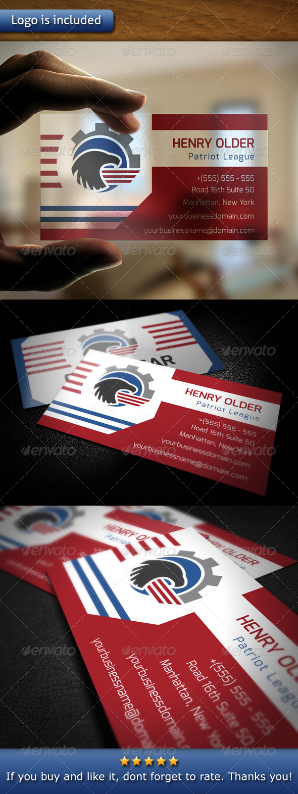 GraphicRiver Eagle Company Business Card 5415989