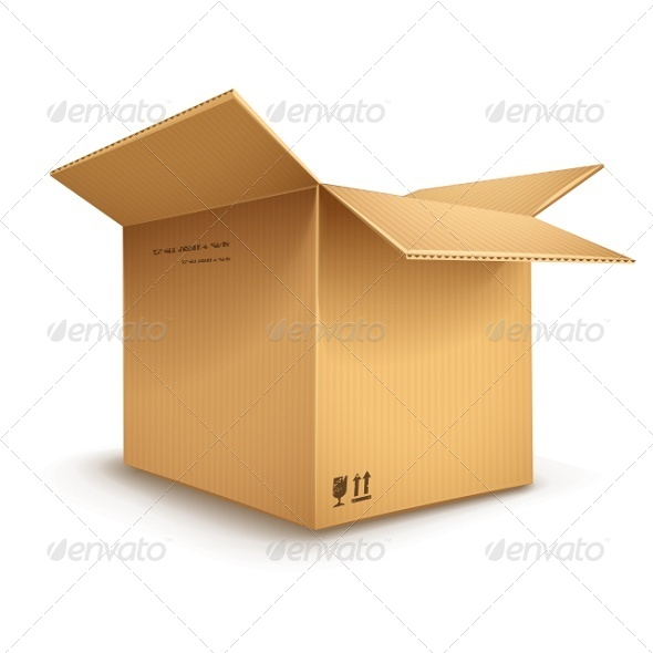 GraphicRiver Cardboard Box Opened 5416026