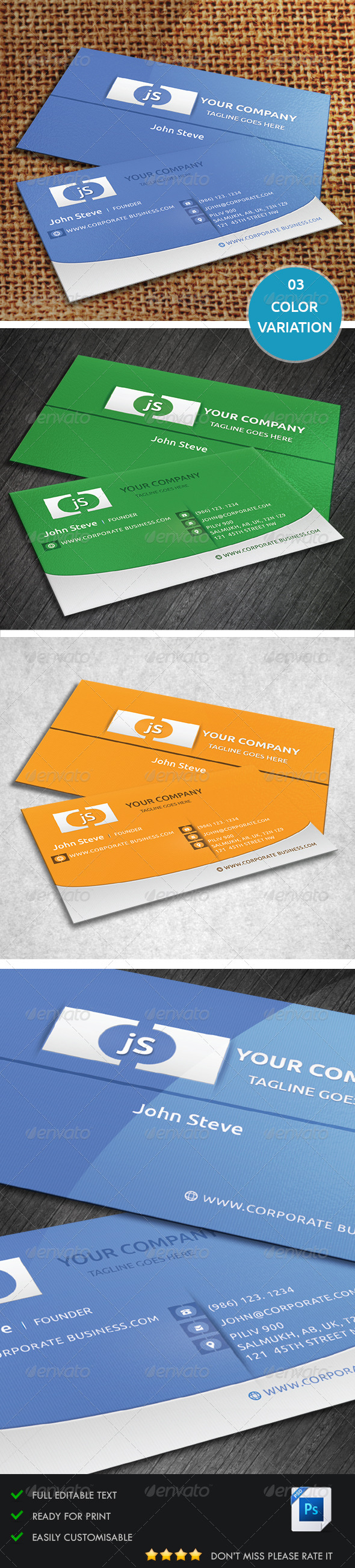 GraphicRiver Corporate Business Card v2 5385507