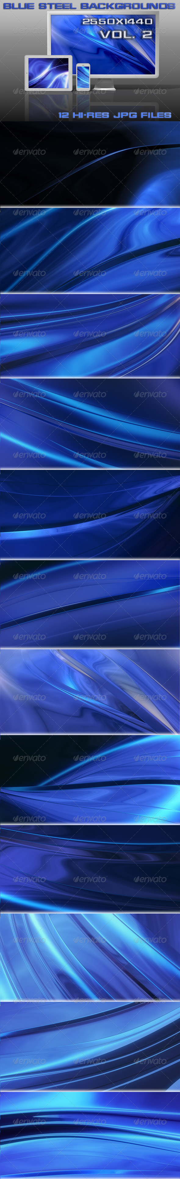 GraphicRiver Blue Steel Backgrounds 5416315