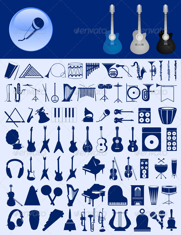 GraphicRiver Musical icons 556986