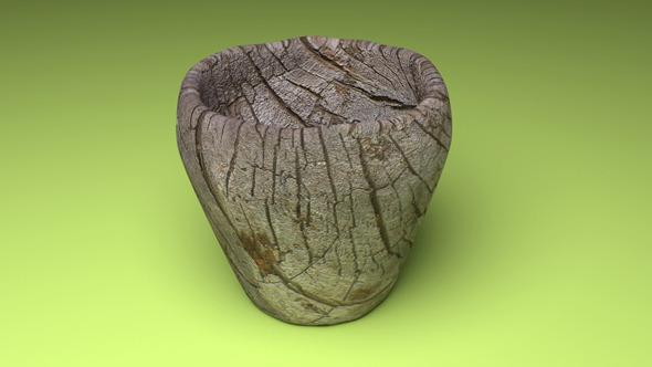 3DOcean Wooden Cup 5416738