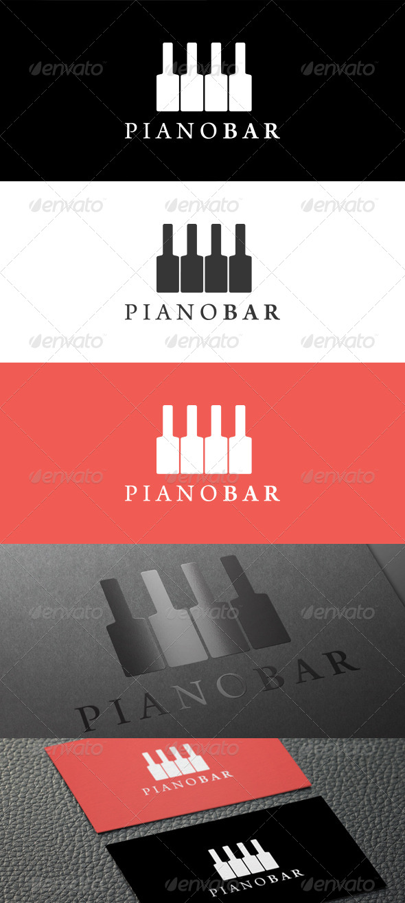 GraphicRiver Piano Bar Logo 5416759