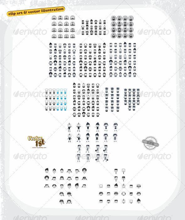 GraphicRiver All Portrait Avatars Bundle 5417101