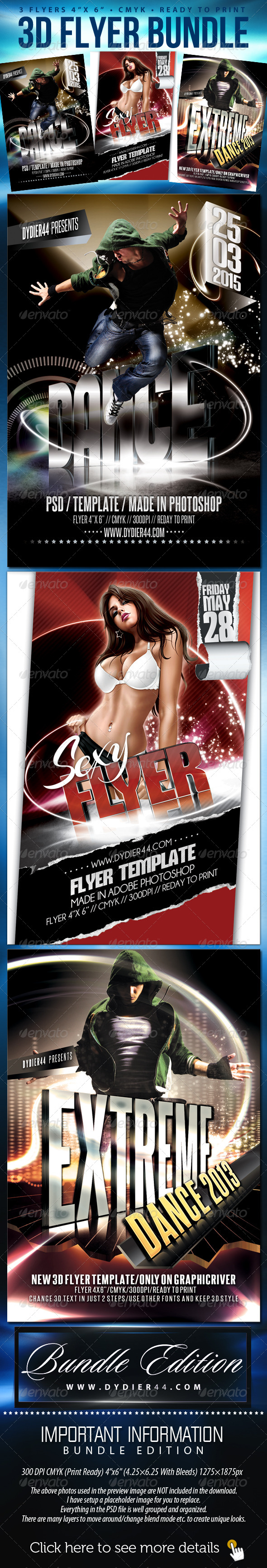 GraphicRiver Dydier44 Bundle Flyer Template 4x6 5392641